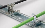 EMC shield clamps for 35 mm DIN rail shape H, pluggable