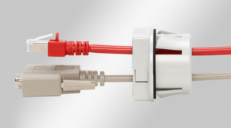 QVT-CLICK Split Cable Gland for Snap-In Mounting
